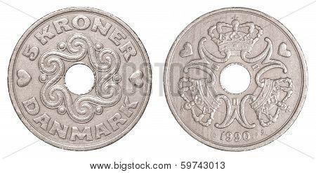 5 Danish Krone Coin