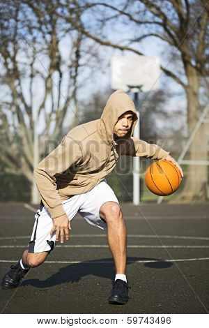 Hooded Basketball Player Portrait