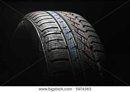 New Car Tire Close Up On