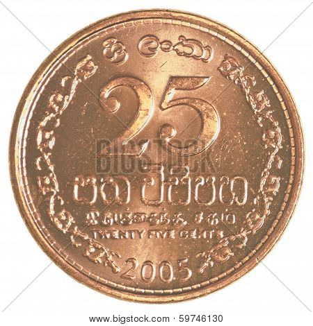 25 Sri Lankan Rupee Cents Coin