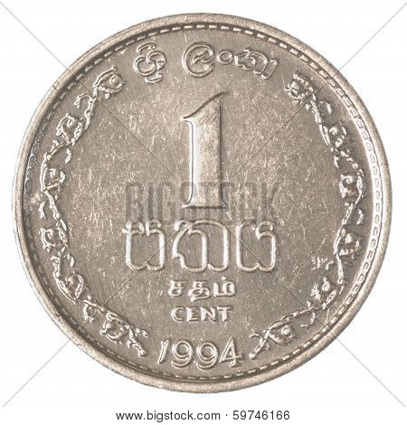1 Sri Lankan Rupee Cents Coin