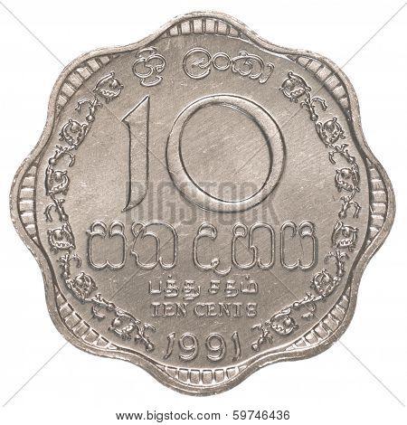 10 Sri Lankan Rupee Cents Coin