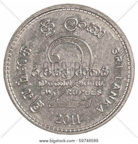 2 Sri Lankan Rupee Coin