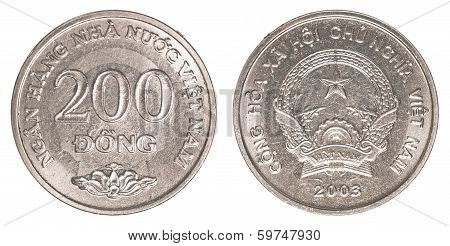 200 Vietnamese Dong Coin