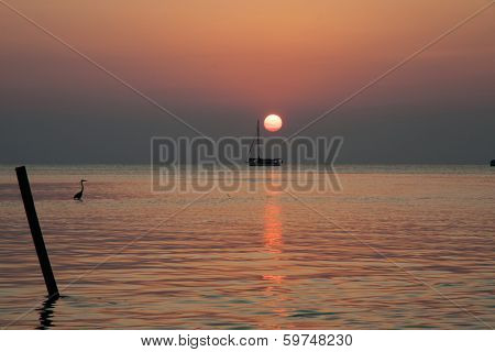 Sunset On The Sea