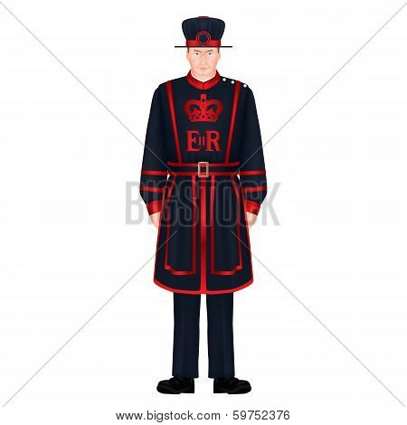 Beefeater Soldier - Yeoman Warder - Royal Guard - London Character
