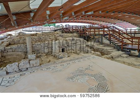Ruins Of Eustolios House At Kourion On Cyprus