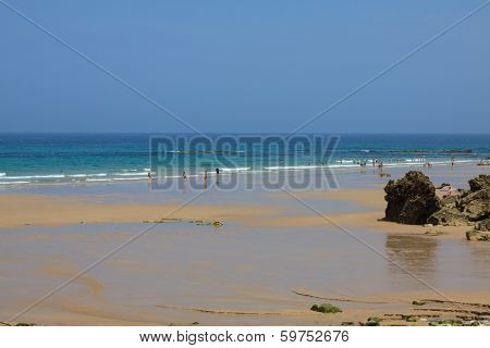 beautiful beach of Pechon Cantabria Spain