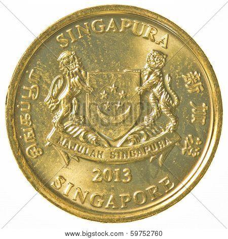 5 Singaporean Cents Coin