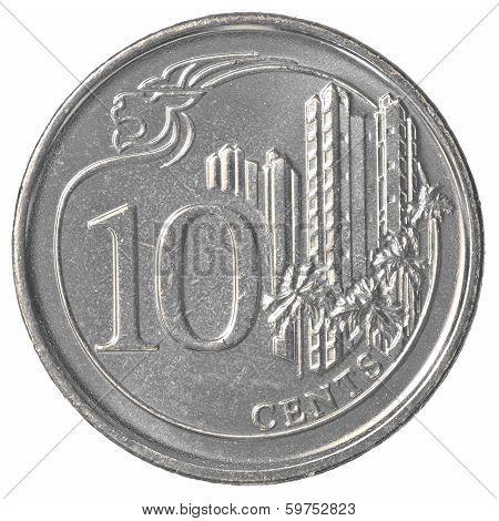 10 Singaporean Cents Coin