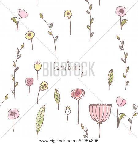 spring garden seamless card