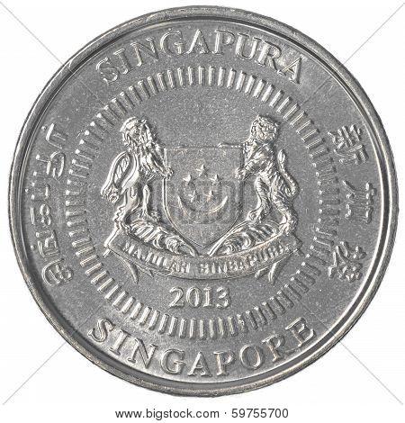 50 Singaporean Cents Coin