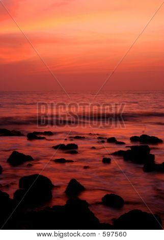 Sunset In Goa, India.