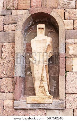 Saint Ramon Llull Statue By Joseph Maria Subirachs Monestir Monastery Of Montserrat Barcelona