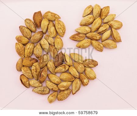 Almond With Hull Like Pie Chart