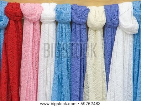 Knitted Scarves.