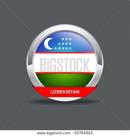 Uzbekistan  Flab Vector Icon