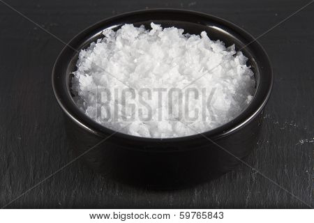 Sea Salt Flakes, In Bowl .