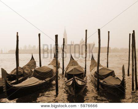 Sepia Image Of Venice