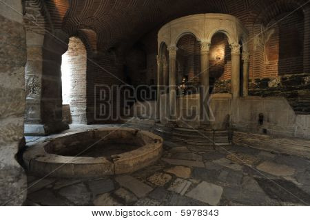 Crypt of Saint Demetrius in Saint Demetrius church, Thessaloniki Greece