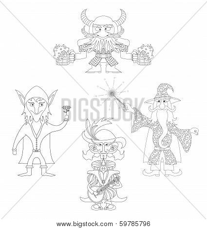 Fantasy heroes outline, set
