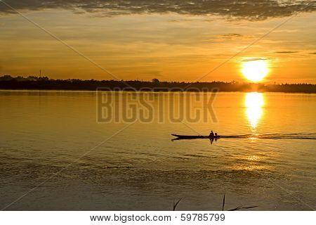 Morning On Mekong Rive