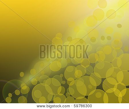 Bstract Background With Glowing Circles And Rays Of Light