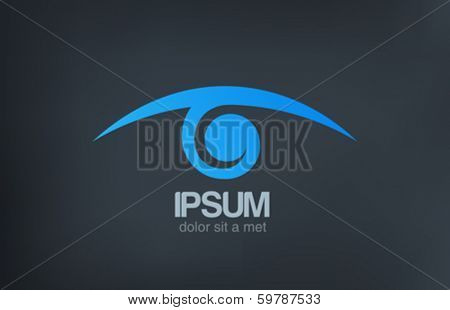 Eye vision vector logo design template. Optics Oculist sign. Search, Spy, Detective, Research, icon