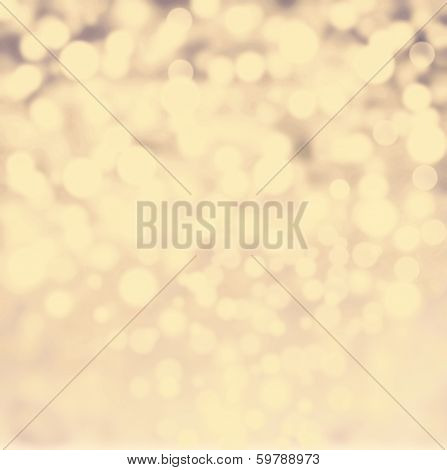 Abstract Bokeh Lights Vintage Background With Defocused Golden Lights. De Focussed Background With S