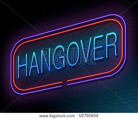 Hangover Concept.