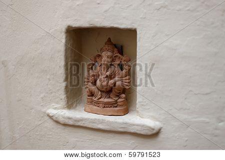 sculpture of a Hindu god
