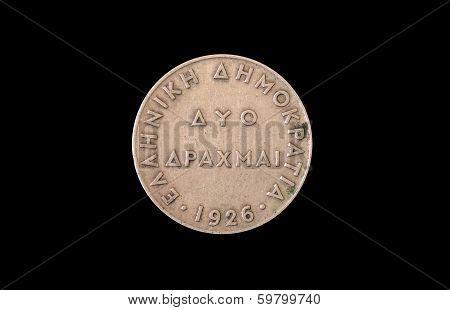 2 greek drachmas 1926