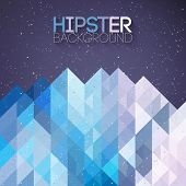 stock photo of iceberg  - Hipster background made of triangles and space - JPG