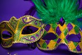 foto of jester  - Festive Grouping of mardi gras - JPG