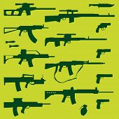 pic of uzi  - vector collection of weapons  - JPG