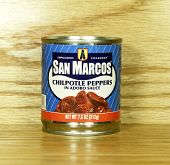Can Of San Marcos Chipotle Peppers