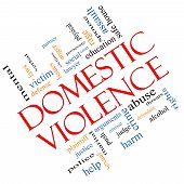 Domestic Violence Word Cloud Concept Angled