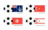 Tristan Da Cunha, Turkey, Tunisia Or Turkish Cypriot State Footballs