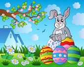 Easter bunny theme image 9 - eps10 vector illustration.