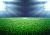 picture of shoot out  - the soccer field and the bright lights - JPG