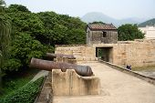 foto of lantau island  - historical cannons of Tung Chung Fort - JPG