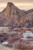 foto of collins  - winter dusk in Rocky Mountains  - JPG