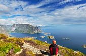 picture of lofoten  - hike in Lofoten - JPG
