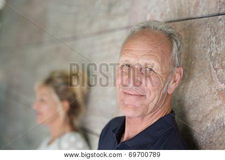 Smiling Confident Senior Man