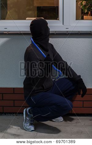Burglar Trying To Break
