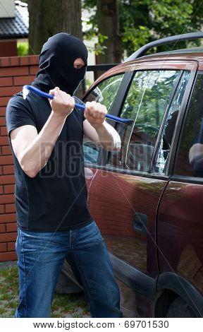 Smashing Car Glass