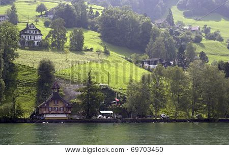 Swiss Alps above Lake Lucerne