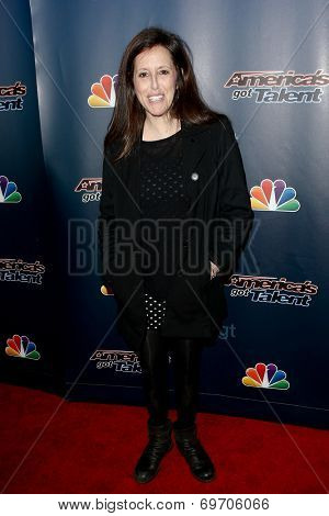 NEW YORK-AUG 6: Comedian Wendy Liebman attends the 'America's Got Talent' post show red carpet at Radio City Music Hall on August 6, 2014 in New York City.