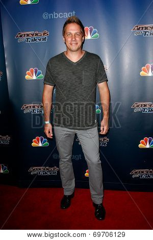 NEW YORK-AUG 6: Magician Mike Super attends the 'America's Got Talent' post show red carpet at Radio City Music Hall on August 6, 2014 in New York City.