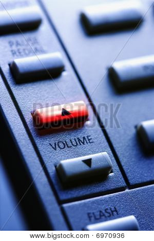 Telephone With Lit Volume Up Button